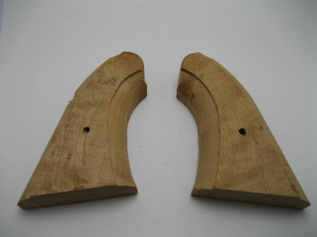 1858 Remington Navy Birdseye Maple Two-Piece Rough Shaped Grips