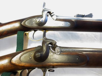 A Side-By-Side Comparison of our Defarbed Enfield against an